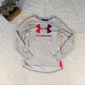 Youth Lg Under Armour Grey Sweatshirt NWT
